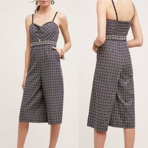 Anthropologie Elevenses Remy Wide Leg Jumpsuit